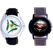Super Men Stylish And Luxury Green Tri Fan Men's Analog Combo Casual Wrist Watch By Google Hub