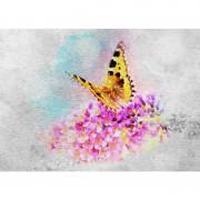 Tablou fluture - Vis suav pe metal