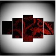 nr Imagen Modular Dragon Fantasy Red Modern Home Wall Decorativo Unique Canvas Picture Art HD Imprimir Pintura sobre Lienzo -40x60 40x80 40x100cm Sin Marco