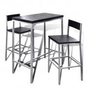 vidaXL Blagovaonski set s visokim stolom i 2 stolice