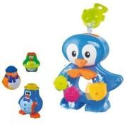 Set 9 jucarii de baie pentru bebelusi Pinguin Ludi