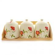 Borcane pentru condimente din ceramica pe suport
