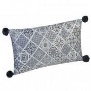 Perna decorativa cu ciucuri negrii 50x30 cm