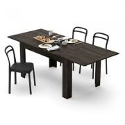 Mobili Fiver Mesa de cocina extensible, modelo Easy, color roble marrón