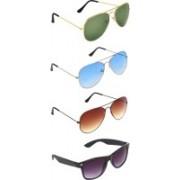 Zyaden Aviator, Aviator, Aviator, Wayfarer Sunglasses(Green, Blue, Brown, Black)