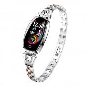 Luxardo Smartwatch (H8) argintiu -cu curea subțire din metal pentru a vă menține feminină în timpul antrenamentului.