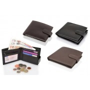"Woodland Leathers £10 (from Woodland Leathers) for a leather bi fold RFID 4.5"" multi pocket wallet"