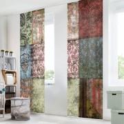 Set de 4 perdele de panou Old Patterns de 250 x 60 cm