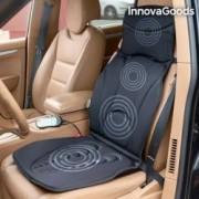 Husa pentru scaun auto sau de birou cu functie de masaj shiatsu si incalzire InnovaGoods 7W 5 moduri de masaj 3 niveluri