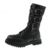 Unisex Lederstiefel - Phantom Boots with Buckle - BRANDIT - 9005-schwarz