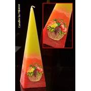 Gemengd Fruit kaars, Piramide, 33 cm