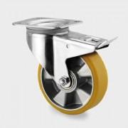 Roata pivotanta cu frana din aluminiu 200 mm - 350 kg TENTE 3477ITP200P63