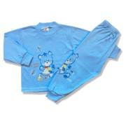 Detské pyžamo – Greedy Bear, modré veľkosť: 122