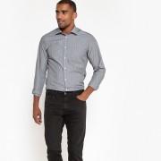 La Redoute Collections Camisa direita, às riscas, mangas compridascinzento riscas branco- XL (43/44)