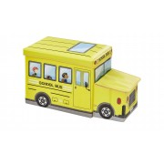 Höffner Sitzbank mit Stauraum Schulbus ¦ gelb ¦ Box Außen: 100% Polyester,