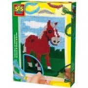 Детски комплект за бродиране Конче, SES, 080241