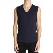 Mey Sleeveless Shirt Organic Yacht Blue ( 48737) - Blauw - Size: Medium