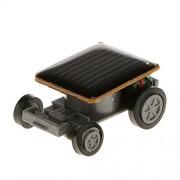Magideal Educational Solar Powered Mini Auto Car Robot Kids Gadget Toy-Black