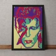 Quadro Decorativo David Bowie Colorido Vintage 35x25