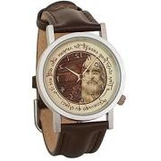 Leonardo da Vinci Backwards Unisex Analog Water Resistant Novelty Gift Watch