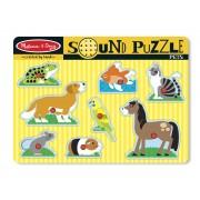 Puzzle de lemn cu sunete Animale de companie