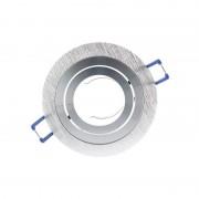 Vision-EL Support Spot LED Orientable et clipsable Rond 92 Argent brossé