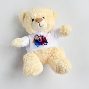 Ursulet plus alb cu tricou personalizat
