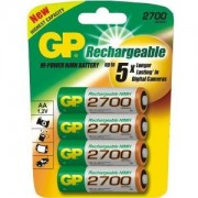 Акумулаторна Батерия R6 AA 2700mAh NiMH 4 бр. GP270AAHC GP - GP-BR-R6-2700-4pk