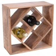 Stojak NA WINO butelki regał półka drewniana