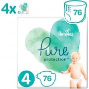 Pampers Pure Protection Luiers - Maat 4 (9-14 kg) - 76 stuks - Maandbox