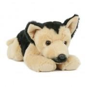 Geen Pluche Duitse Herder honden knuffel 25 cm liggend speelgoed