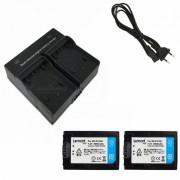 Ismartdigi FV100 Baterias para Camara Digital + Cargador Dual - Negro
