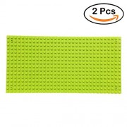 """Fancyku 2 Pack Building Base Plates 5"""" x 10"""" Original Base Plate - Compatible with All Major Brands (Forest Green)"""