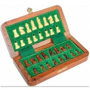 Triple S Handicrafts Wooden 7 Inch Magnetic Chess