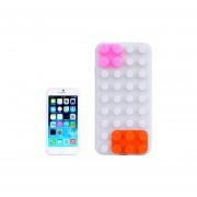 Building Block Texture Silicone Case For Iphone 6 Plus(beige)