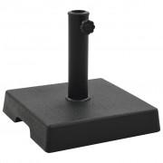 vidaXL Stojan na slnečník čierny polyresinový štvorcový 8 kg