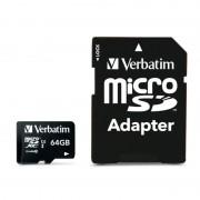 Card de memorie Verbatim microSDXC Premium 64GB Clasa 10 UHS-i U1 cu adaptor SD