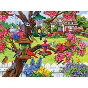 Bits And Pieces - 300 Piece Jigsaw Puzzle For Adults Bountiful Spring Pc By Artist Nancy Wernersbach