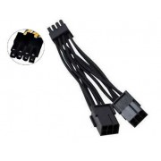 Dual Female 6 pin PCIe (PCI Express) to Single Male 8 pin PCIe Power Adapter cable for graphics cards