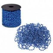 Sirag margele decorative de Craciun pentru brad 8mm x 10m albastru