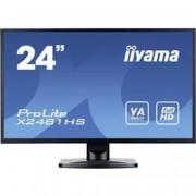 "Iiyama LED monitor Iiyama ProLite X2481HS-B1, 59.9 cm (23.6 ""),1920 x 1080 px 6 ms, VA LED VGA, DVI, HDMI™"