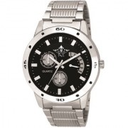 Officially Black Dial Stainless Steel Metal Belt Analog Wrist Watch