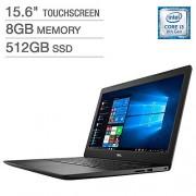 "Dell Inspiron 15.6"" FHD LED-Backlit Touchscreen Laptop, Intel Core i3-8145U up to 3.90GHz, 8GB DDR4, 512GB PCIe NVMe SSD, Wireless-AC, Bluetooth, Webcam, MaxxAudio, HDMI, Windows 10"