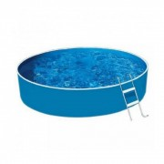 Lagoon Basic fémvázas kerek medence, 360x90 cm-es méretben, homokszűrővel, vastagított belső fóliával