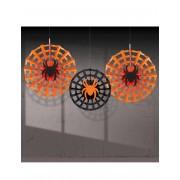 Vegaoo 3 hängade spindeldekorationer till Halloweenfesten One-Size