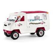 Schleich Mobil állatorvosi klinika kancával és ápolóval