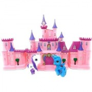 Emob Beautiful Battery Operated Happy Princess Dream Castle Toy with Light and Music (Multicolor)