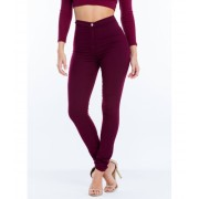 CheapChic Poured Into My High-waisted Jeggings Burgundy