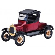 Motormax 1:24 1925 Ford Model T - Runabout Diecast Car (Platinum Vintage Collection) (Burgundy)