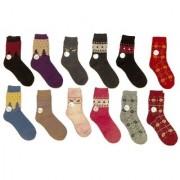 SOFI Full Length Multicolor Mens Socks - Pack of 12